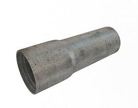Concrete Drainage Tube 3D model concrete