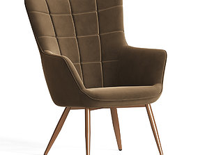 3D model Wingback Accent Chair Wayfair