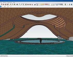 3D model Sketchup Cultural center E2
