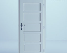 3D outdoor White Door 35