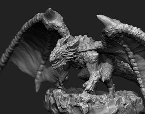 Rock dragon 3D printable model