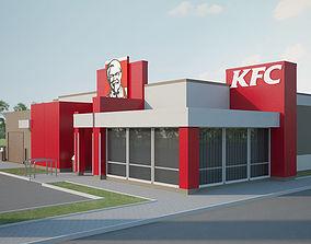 3D model KFC Restaurant 02