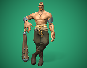 Viking Low Poly 3D model animated