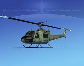 Bell UH-1B Iroquois S Vietnamese 3D model