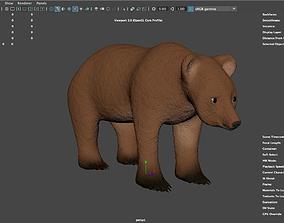Wild bear called Bear-d game 3D model
