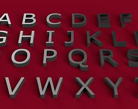 VERDANA font uppercase and lowercase 3D letters STL