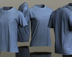 3D asset Mens Clothing Blue Tshirt