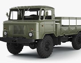 GAZ-66 Truck High-Poly 3D