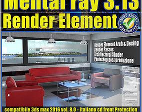 Mental ray in 3dsmax 2016 Vol 8 Render Element cd