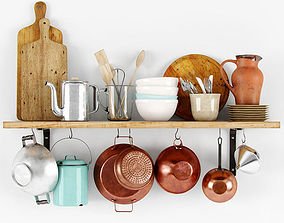 3D Shelf with bakeware