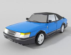 3D asset Saab 900 Cabriolet