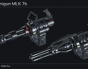 Scifi Minigun MLK 76 3D asset