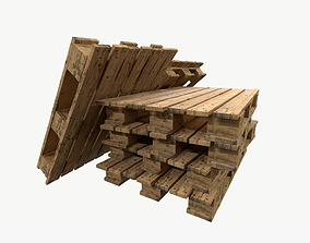 Pallet type asia wing 3 sets of texture 3D asset