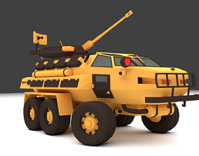 3D model police Armored personnel carrier SDVN-22