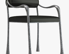3D Black And Silver Chair
