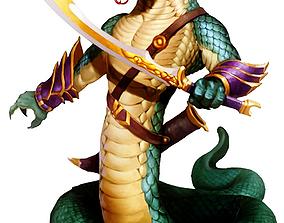 Snake Man 3D asset