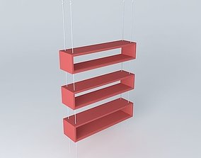Suspended niches Steel cables Ceiling 3D