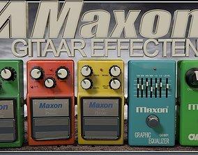 3D Maxon Guitar Pedals