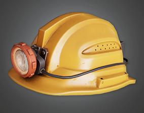 Miners Helmet - HAT - PBR Game Ready 3D asset