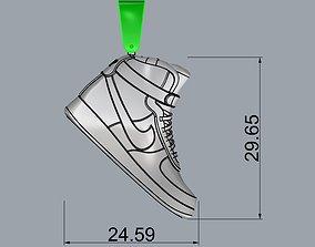 nike air jordan pendant 3D print model