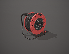 Black and Red Extension Cable 3D asset
