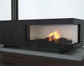 fireplace 3D steel