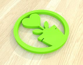 3D print model flower heart lovely coaster