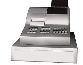 3D asset realtime Cash register