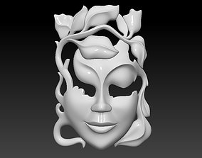 3D print model Mask girl woman
