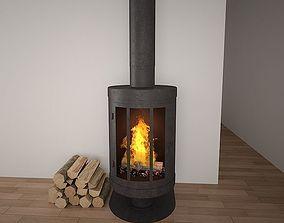 3D model Fire place 03