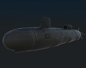 3D model US Navy SSN-776 USS Hawaii Attack Submarine with