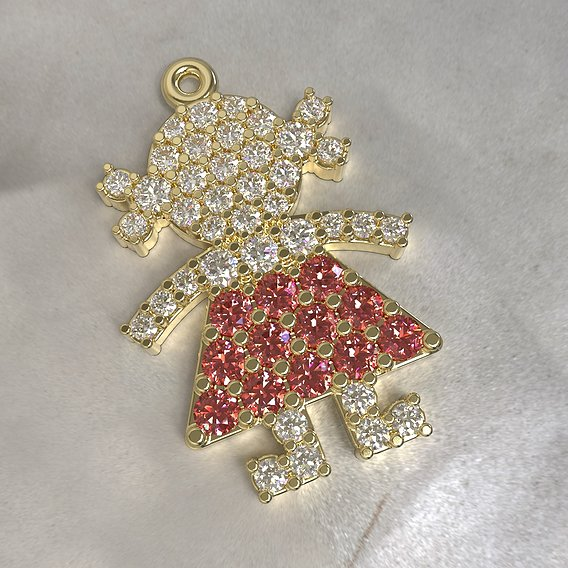 Pendant Lady in red