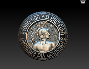 3D printable model Theseus enamel pin