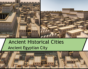 historic Ancient Egyptian City Pack 3D model