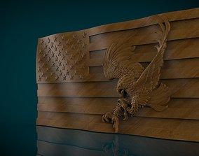3D print model American Flag and Eagle america