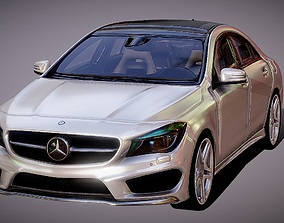 Auto Mercedes-Benz CLA Class 3D Model game-ready