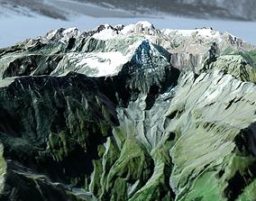 3D model rock Mountain landscape