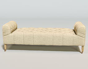 CAMILLE TUFTED SETTEE 3D