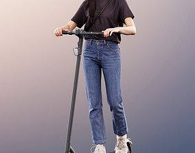 11290 Francine - Casual Woman Riding Scooter 3D model