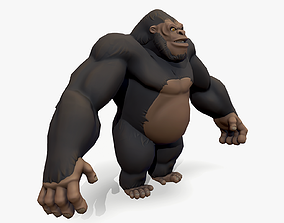 Stylized Gorilla 3D asset