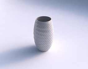 Vase twisted with distorted grid plates 3D printable model