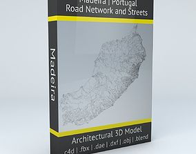 Madeira Road Network and Streets 3D model