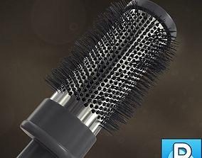 Round modern hairbrush 3D