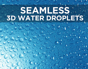 Liquid droplets bundle - Seamless patch of 3D model 1