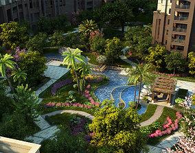 Residential community landscape 25 3D