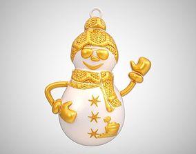 3D printable model Snowman Necklace