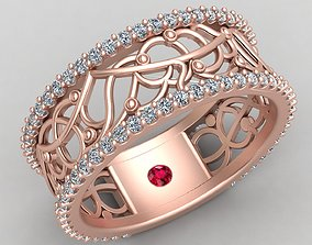Abstract Ornament Wedding Diamond 3D printable model 2