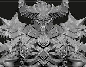 Ancient Legendary Armor High poly Zbrush project 3D