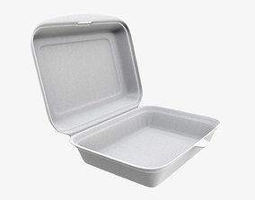 Take away lunch polystyrene box 03 3D