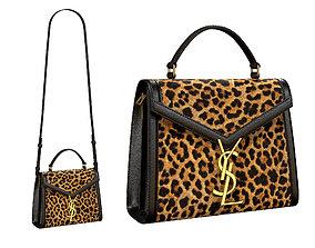 YSL Saint Laurent Cassandra Mini Top Bag Leopard 3D asset